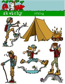 Outdoor clipart hiker Hiking kids outdoor clipart camping