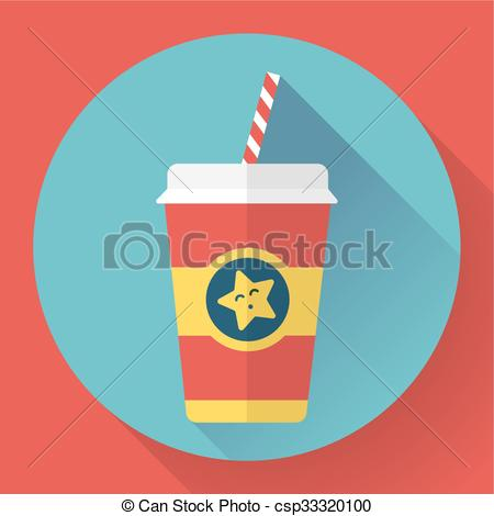 Outdoor clipart hot thing Flat drink style cup of