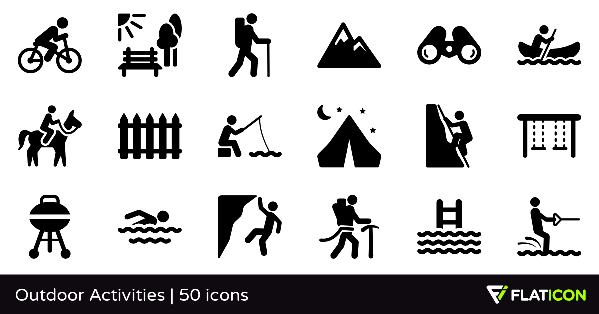 Outdoor clipart human activity EPS Activities files) PNG (SVG