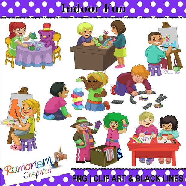 Outdoor clipart indoor game And fun Children Clip kids