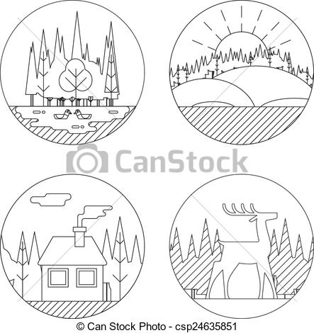Outdoor clipart life Lake  Vector Symbol Vector