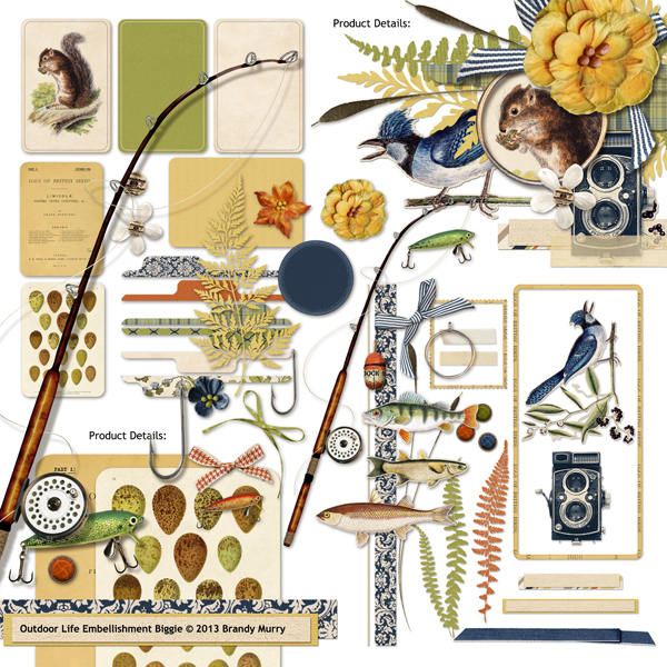 Outdoor clipart life Embellishments coordinating of digital scrapbooking