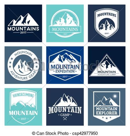 Outdoor clipart mountain hiking Mountain Vector logo and
