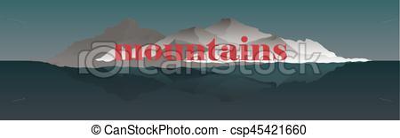 Outdoor clipart mountain ridge Mountain Mountaineering Vector of with