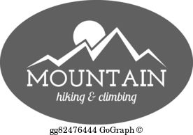 Outdoor clipart mountain trekking Camping and logo  label