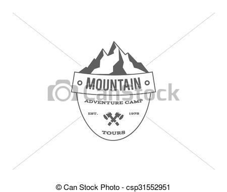 Outdoor clipart mountain trekking Hiking climbing emblem outdoor trekking