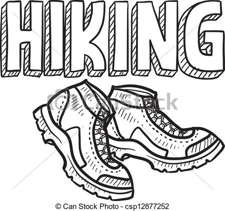 Sketch clipart line art  hiking vector  Clipart