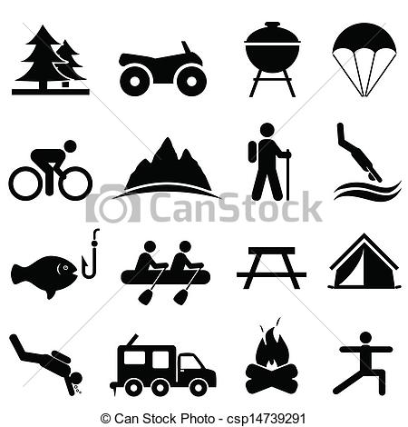 Leisure clipart black and white #2