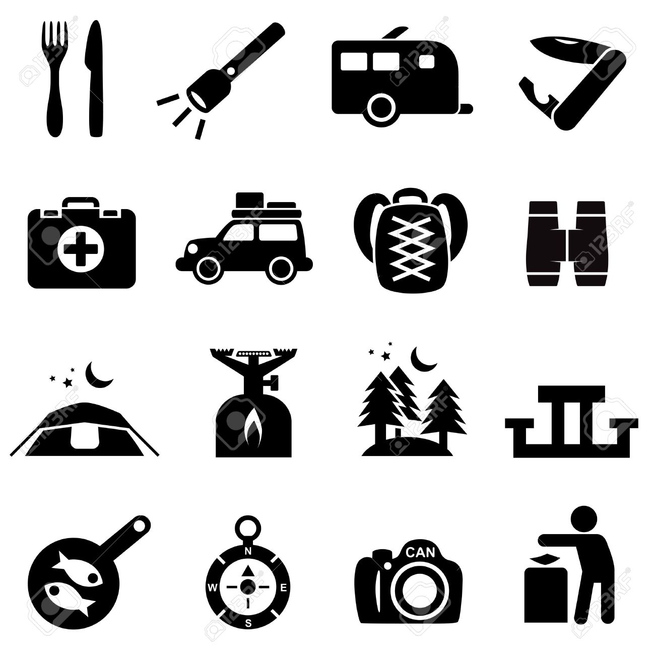 Outdoor clipart recreation On silhouette collection clipart Icons