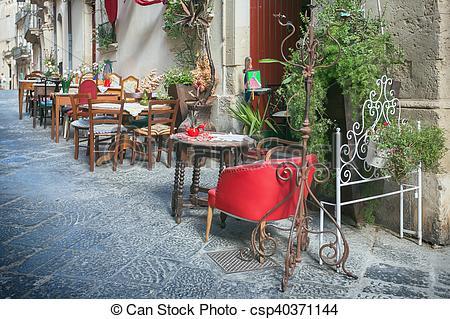 Outdoor clipart sidewalk Outdoor of Stock  Restaurant