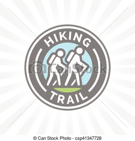 Outdoor clipart trail Of Vector  hiking icon