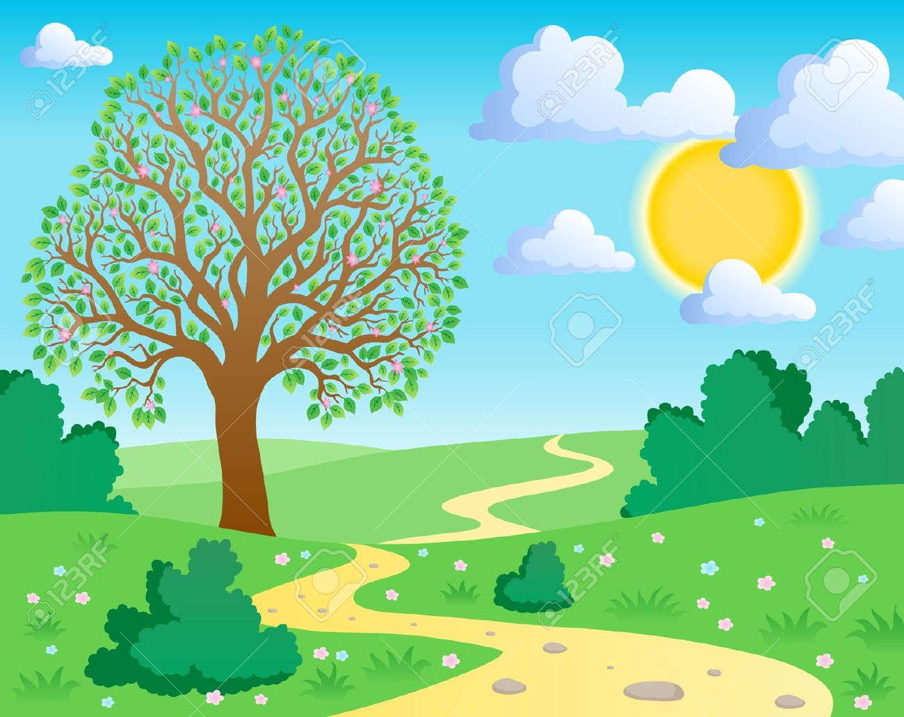 Outdoor clipart trail Scenery Cliparts Zone clipart Nature
