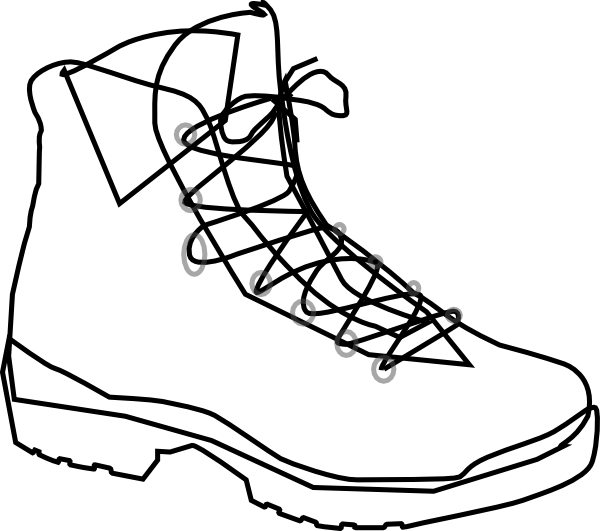 Outdoor clipart walking boot Image at Outline art this