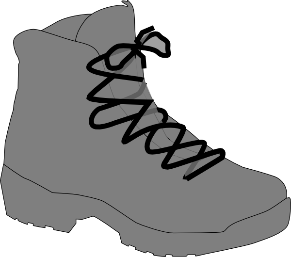 Outdoor clipart walking boot Image  at Boot art