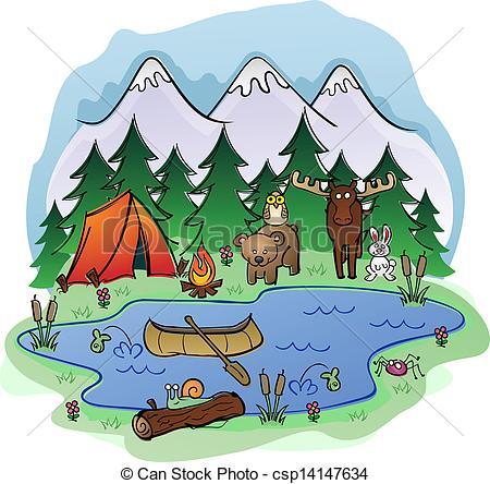 Valley clipart summer scene – Wilderness Wilderness Clipart Download