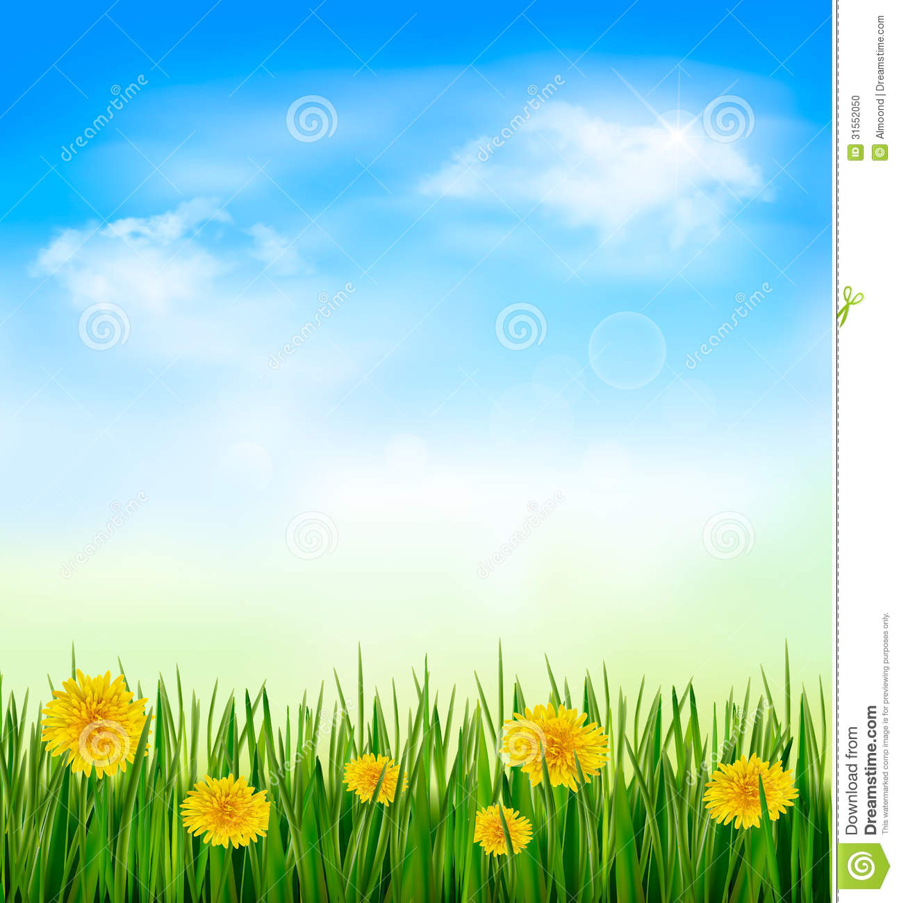 Outside clipart grass sky  Blue nature clipart hd