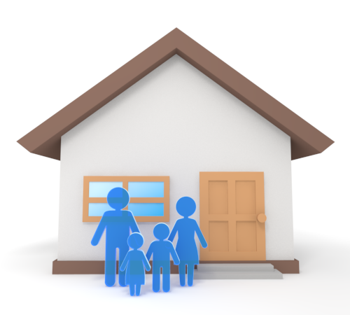 Cottage clipart home and family In clipart in house Family