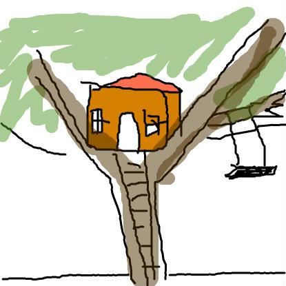 Outside clipart house tree Project: it then is draw
