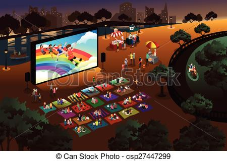 Outside clipart park Movie movie park Vectors in