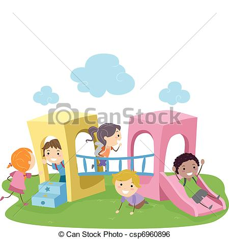 Outside clipart preschool playground Playground 338  Illustration Clip