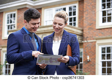 Outside clipart property Photography Realtor Female Residential csp36741303