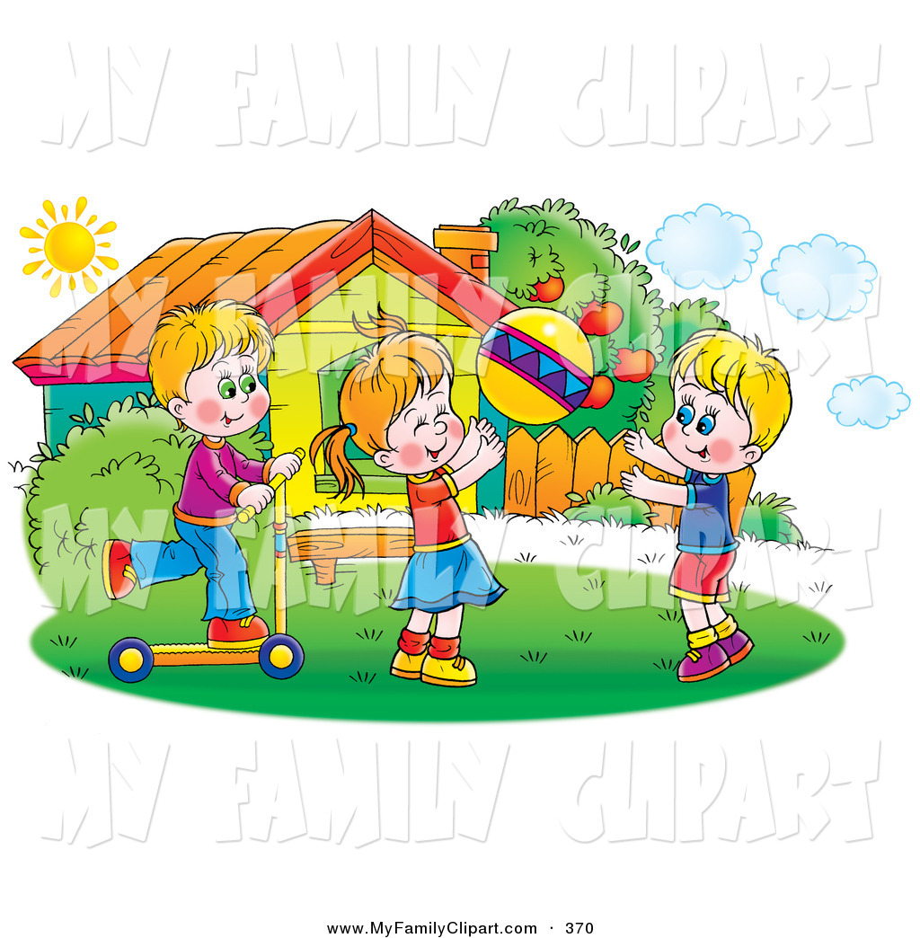 Outside clipart sunny day A  Children Colorful Art