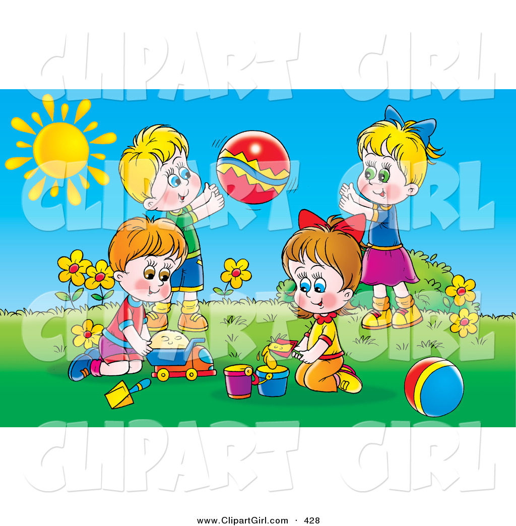 Outside clipart sunny day And Boys Stock Boys on