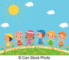 Outside clipart sunny day A beautiful of Silhouettes of
