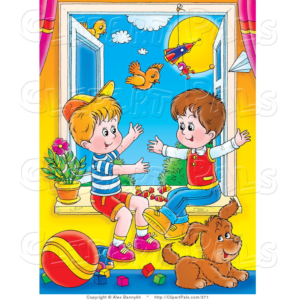 Cottage clipart bright sunny day Clip Of Sunny Day Clipart