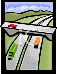 Overpass clipart Picture Highway Overpass Royalty Free