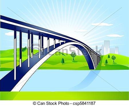 Bridge clipart water clipart Search Vectors bridge over of