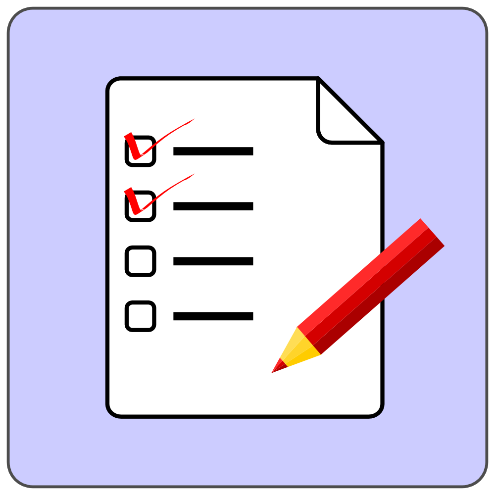 Overview clipart checklist OnlineLabels Icon Checklist Checklist Icon