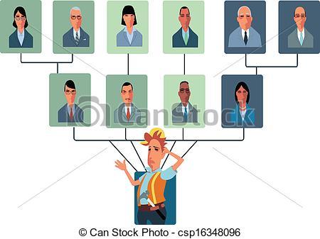 Structure clipart Vectors Top csp16348096 Organizational an