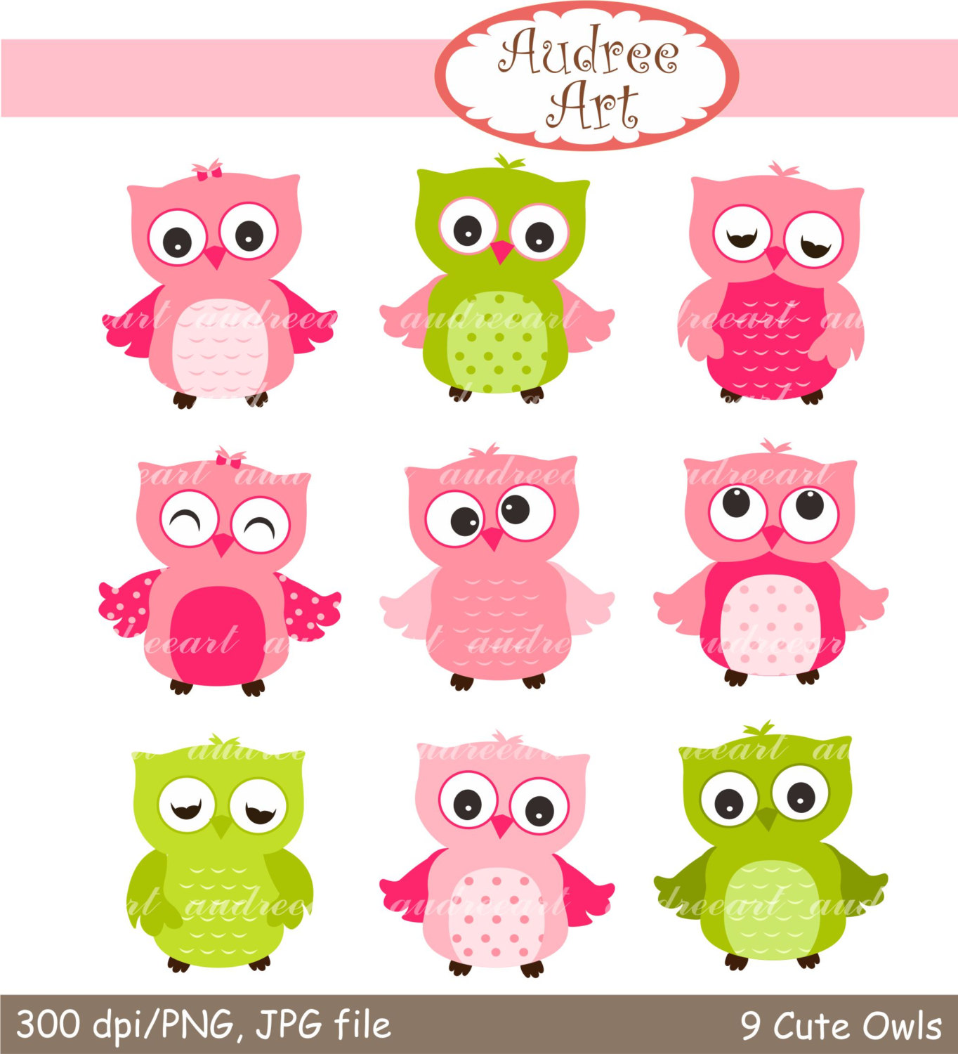 Color clipart owl Owl Pink Owls and Pink