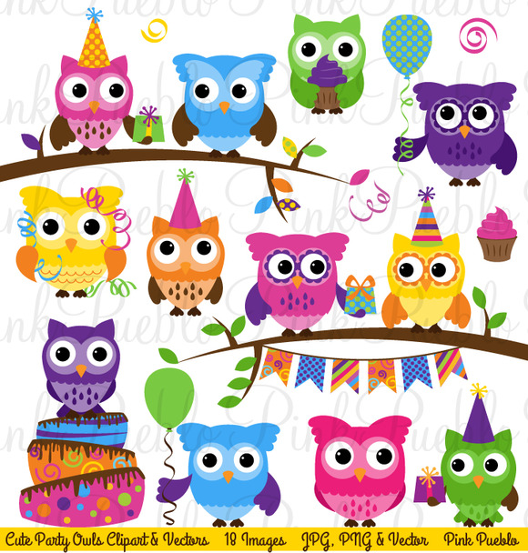 Creative clipart owl Out Check Birthday & Owl
