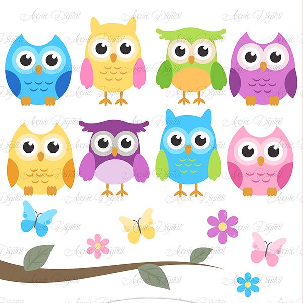 Owl clipart blue and green Best for 223 who clip