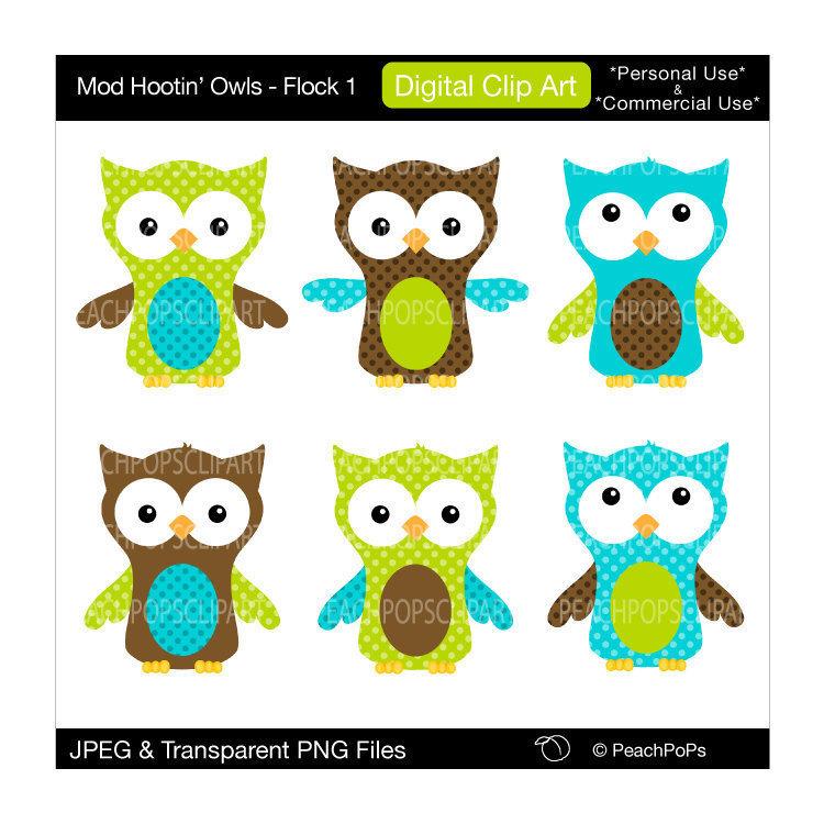Owl clipart blue and green )http://selmabuenoaltran Pinteres… Via: OWLS