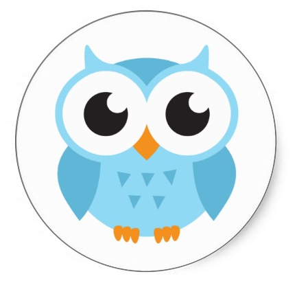 Owl clipart blue and green Owl Cute baby Best Best