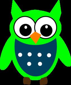 Owl clipart blue and green Online Clker com art Art
