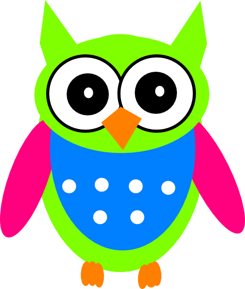 Owl clipart blue and green Clip at vector Owl Download