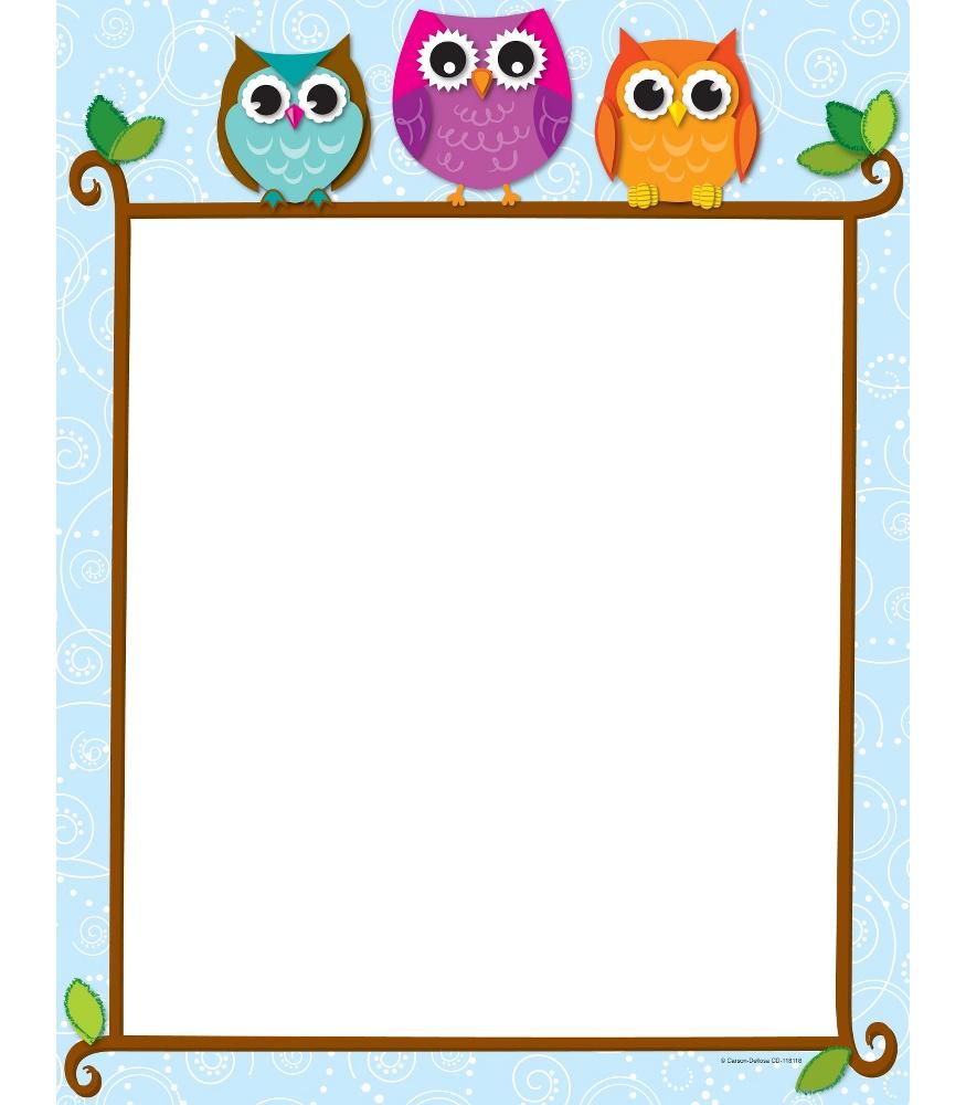 Owl clipart border Art Clipart Carson Borders Clip