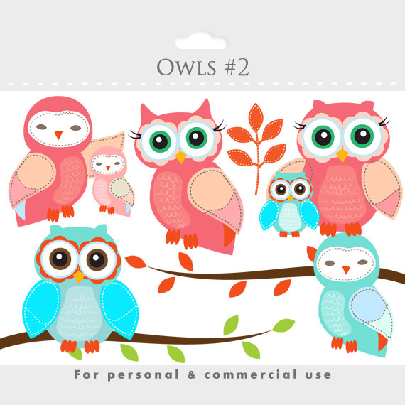 Branch clipart whimsical tree Branch birdies this owls Owls
