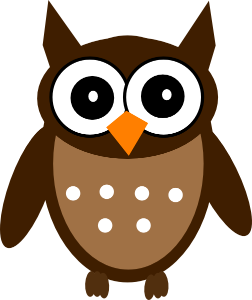 Owl clipart brown  art image at as: