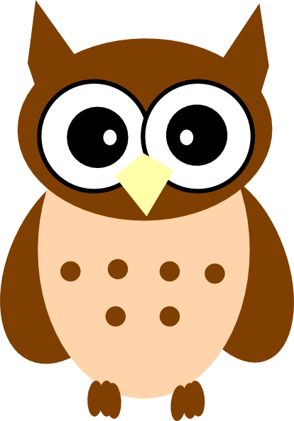 Owl clipart brown And Clipart Brown Owl Pink
