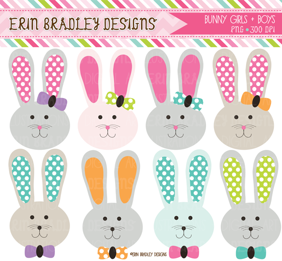 Owl clipart bunny Papers Erin Bradley shop Papers