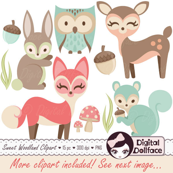 Owl clipart bunny DigitalDollface on Etsy Animals Clip