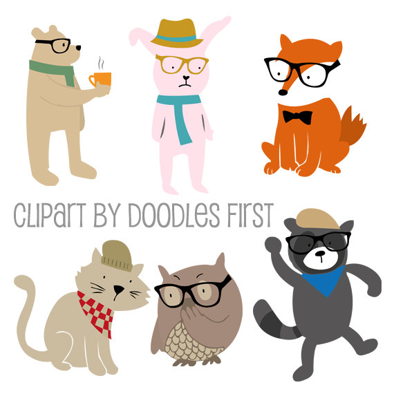 Owl clipart bunny Bunny and Cat Raccoon Red