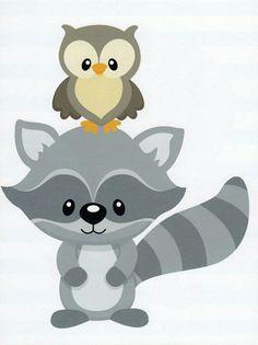 Raccoon clipart woodland Clipart Fox Animal Deer Forest