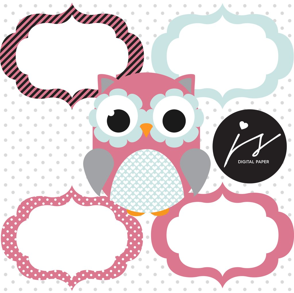 Owl clipart bunting Clipart with Grey Stars Chevron