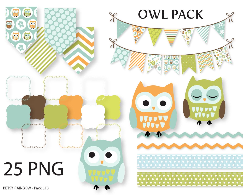 Owl clipart bunting Owl digital digital owl